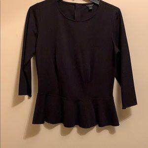 Ann Taylor long sleeve peplum shirt